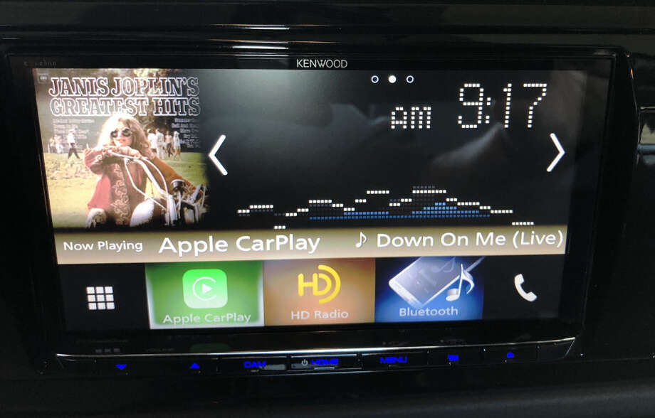 Home screen for the Kenwood Excelon DDX9704S infotainment system. Photo: Dwight Silverman / Houston Chronicle
