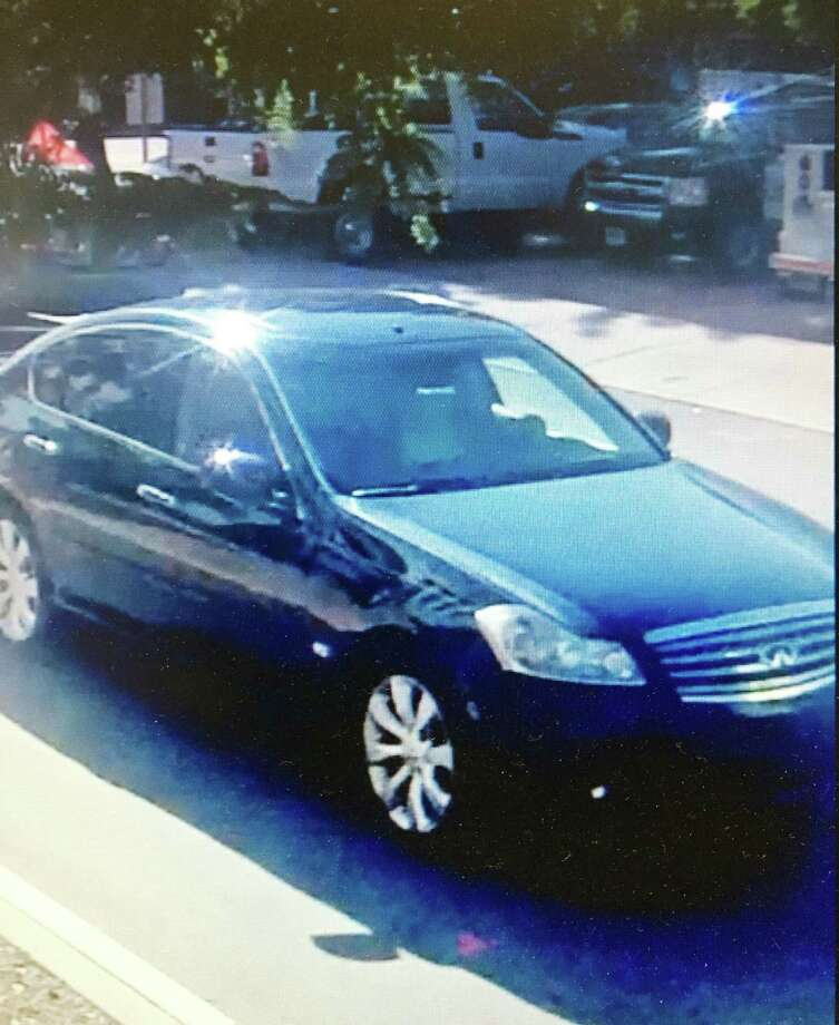 Middletown police say the driver of this car hit a 2-year-old boy near the corner of Grand Street and Bacon Avenue Thursday morning. Photo: Courtesy Middletown Police