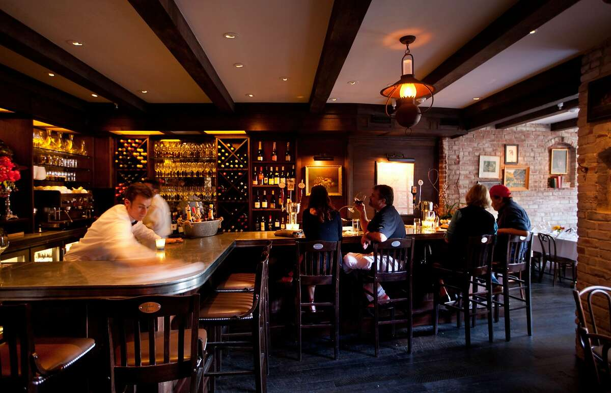 The bar at El Paseo restaurant in Mill Valley, California, on May 20, 2011.