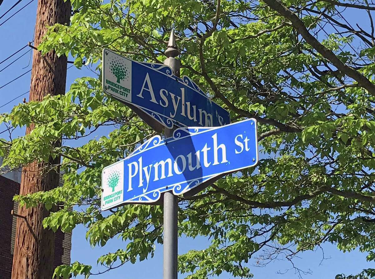 The intersection of Asylum and Plymouth streets in Bridgeport, Conn., on May 24, 2018.