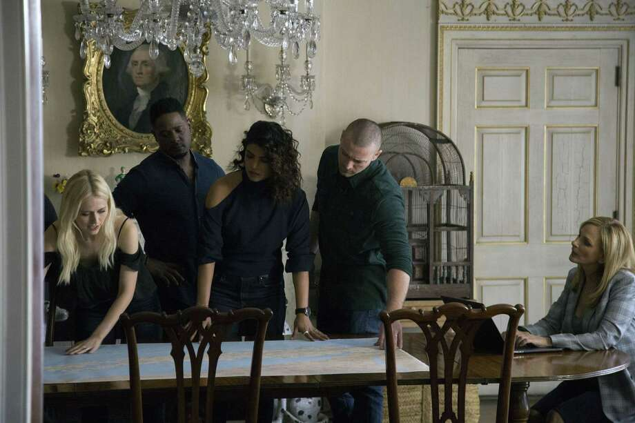 "QUANTICO - ""No Place is Home"" - When Owen and McQuigg learn heartbreaking news about family members, the team goes on high alert as they quickly learn nowhere is safe, on ABC's ""Quantico,"" airing FRIDAY, JULY 13 (8:00-9:01 p.m. EDT), on The ABC Television Network. (ABC/Giovanni Rufino) JOHANNA BRADDY, BLAIR UNDERWOOD, PRIYANKA CHOPRA, JAKE MCLAUGHLIN, MARLEE MATLIN Photo: Credit: Giovanni Rufino / © 2018 American Broadcasting Companies, Inc. All rights reserved"