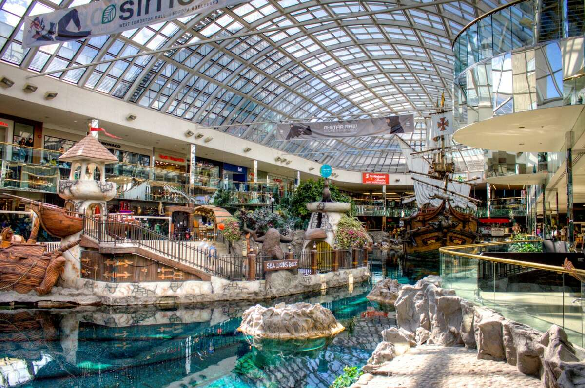 West Edmonton Mall of Alberta, Canada Many shopping malls in other countries offer a whole lot more than just shopping. In these places, movie theaters, ice-skating rinks, roller coasters, and live entertainment often accompany thousands of stores.