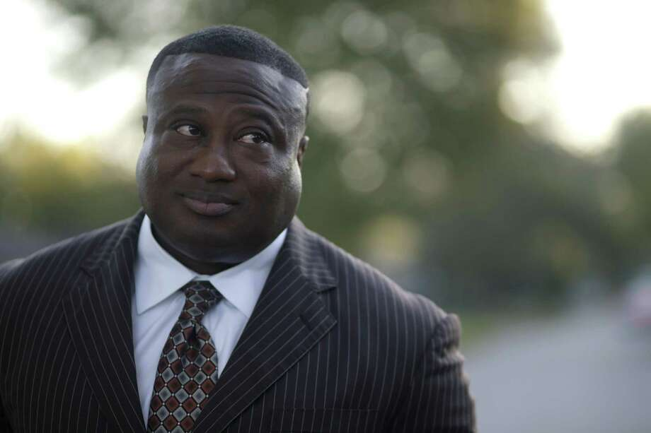 Quanell X, leader of the New Black Panther Party,       during a visit to the South Acres street where he grew up, Wednesday, Oct. 26, 2016, in Houston. Quanell spent time dealing drugs in the area, especially at the intersection three doors down from his grandmother's house. ( Mark Mulligan / Houston Chronicle ) Photo: Mark Mulligan, Staff / Houston Chronicle / © 2016 Houston Chronicle