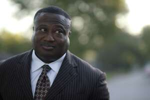 Quanell X, leader of the New Black Panther Party,       during a visit to the South Acres street where he grew up, Wednesday, Oct. 26, 2016, in Houston. Quanell spent time dealing drugs in the area, especially at the intersection three doors down from his grandmother's house. ( Mark Mulligan / Houston Chronicle )