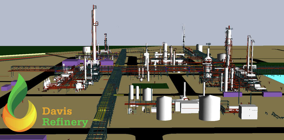 A computer rendering of the Davis Refinery that Meridian Energy Group plans to build in Billings County, North Dakota. The California-based company plans to make the refinery the cleanest and safest in the nation. Photo: Handouts From Meridian Energy