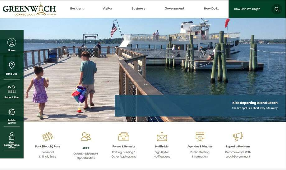 The town of Greenwich's official website is getting a makeover and a slight change of address. The new website, www.greenwichct.gov will be live on Aug. 8 with a new look similar to what is shown above and what is designed to be a better user experience. Photo: Contributed Photo / Contributed / Greenwich Time Contributed