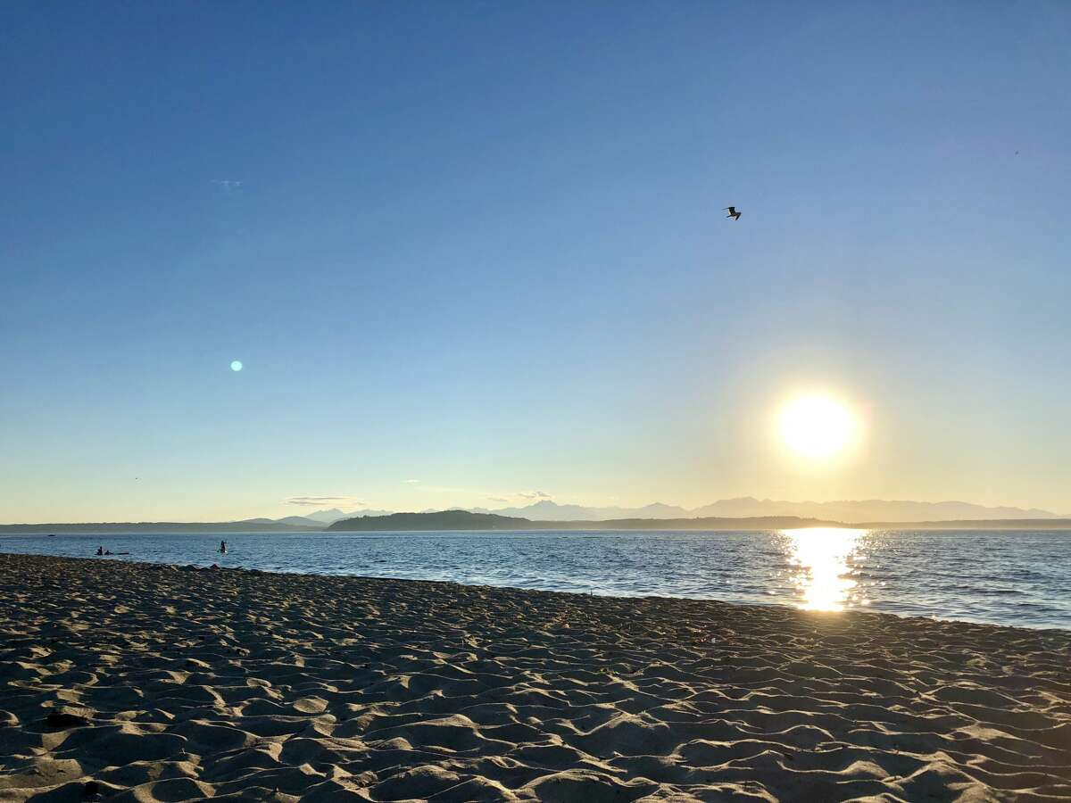 Alki Beach in West Seattle on a sunny summer July day, earlier this year.