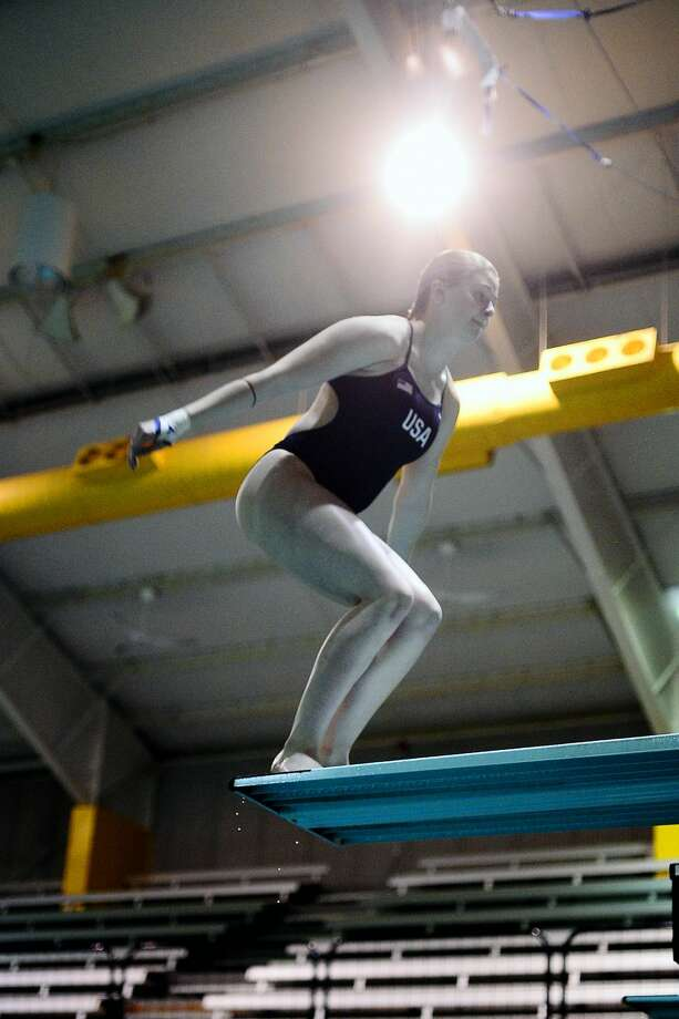Midland's Tarrin Gilliland photographed during practice July 10, 2018, at COM Aquatics. Gilliland and teammate Johanna Holloway (not pictured) are training for the FINA World Junior Diving Championships July 23-29 in Kyiv, Ukraine. James Durbin/Reporter-Telegram Photo: James Durbin
