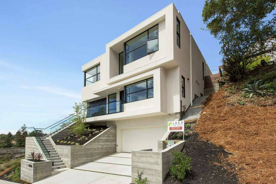 5750 Golden Gate Ave. in Oakland's Upper Rockridge is a four-bedroom LEED certified home available for $2.808 million. Photo: Open Homes Photography