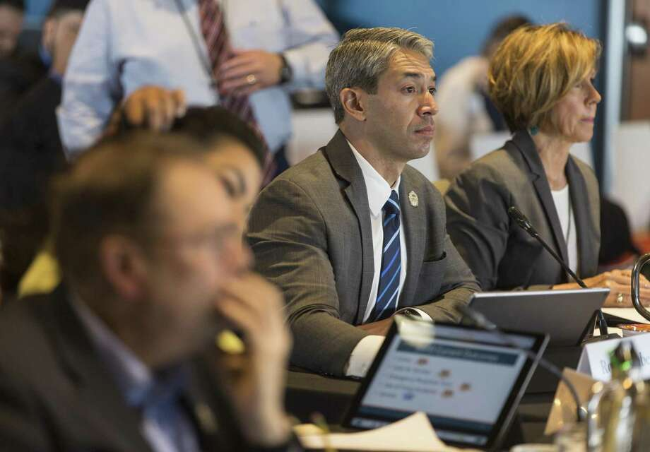 San Antonio mayor Ron Nirenberg listens Wednesday, May 30, 2018 at the Henry B. Gonzalez Convention Center to staff presentations during the city council's annual goal-setting session for the budget. Photo: William Luther, Staff / San Antonio Express-News / © 2018 San Antonio Express-News
