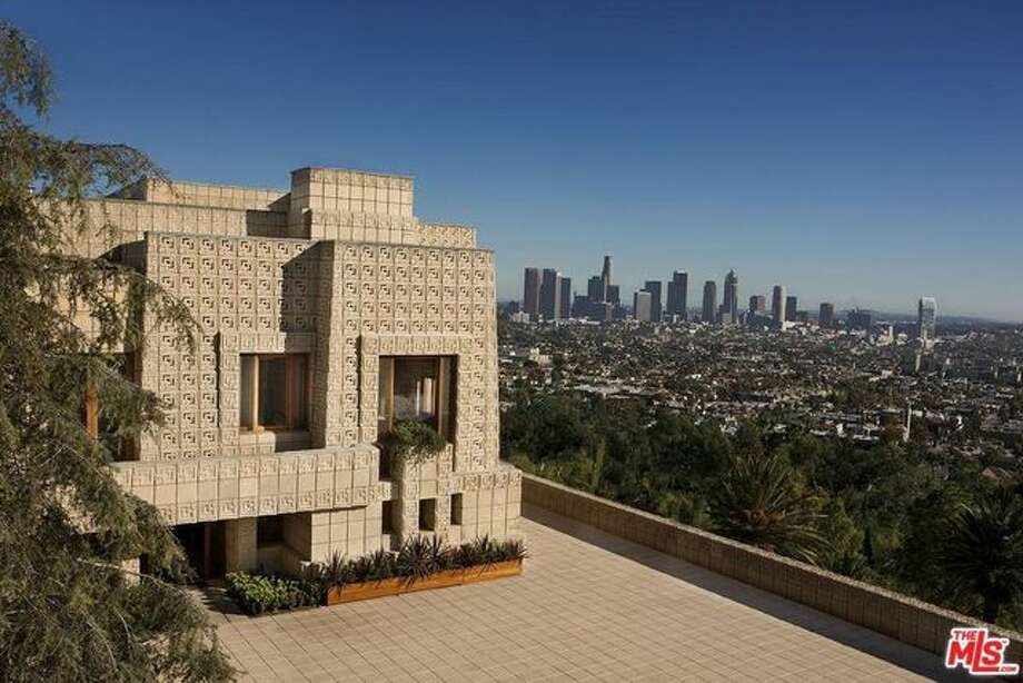 The iconic property was built in 1924 by Frank Lloyd Wright's son, Lloyd and was constructed of 27,000 concrete blocks. Photo: REALTOR.com