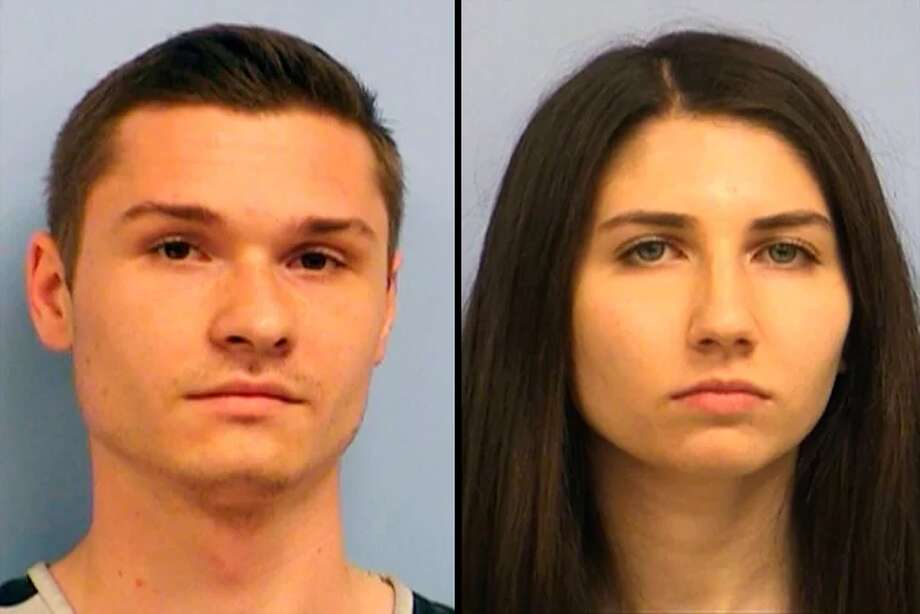 Pictured:Nicolas Shaughnessy andJaclyn Edison. Photo: Travis County Jail
