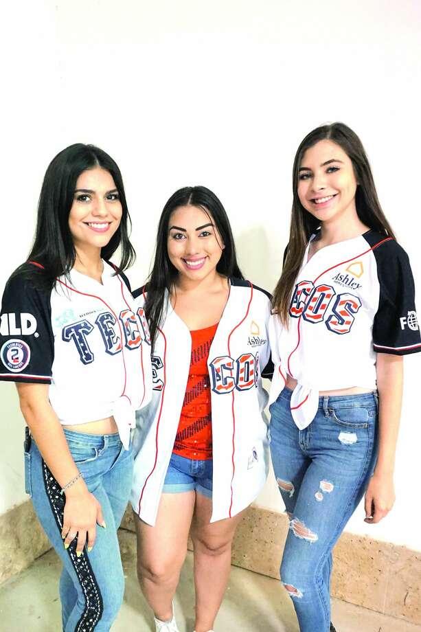 Bianca Trevino, Alexis Benavides and  Briana Cantu at Uni-Trade Stadium Friday, July 13, 2018 Photo: Jose Gustavo Morales