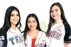 Bianca Trevino, Alexis Benavides and Briana Cantu at Uni-Trade Stadium Friday, July 13, 2018