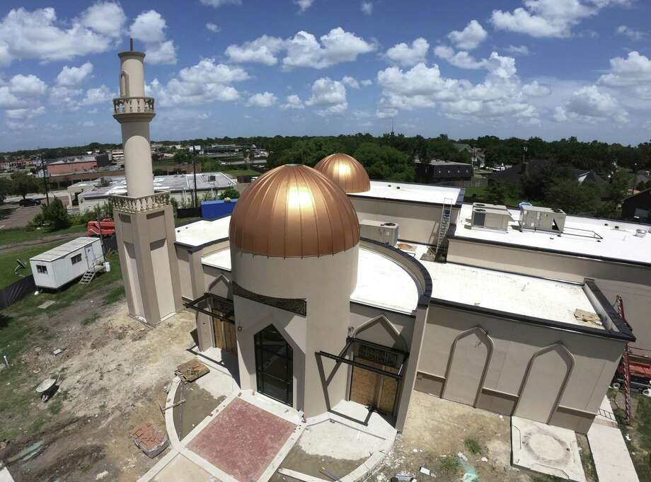The rebuilt Victoria Islamic Center is nearing completion on Thursday, July 12, 2018, after the old building was burned down on Jan. 28, 2017. Marq Vincent Perez is currently on trial in Victoria, Texas, for burning its down. Photo: Billy Calzada, Staff / Staff Photographer / San Antonio Express-News