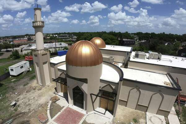 The rebuilt Victoria Islamic Center is nearing completion on Thursday, July 12, 2018, after the old building was burned down on Jan. 28, 2017. Marq Vincent Perez is currently on trial in Victoria, Texas, for burning its down.