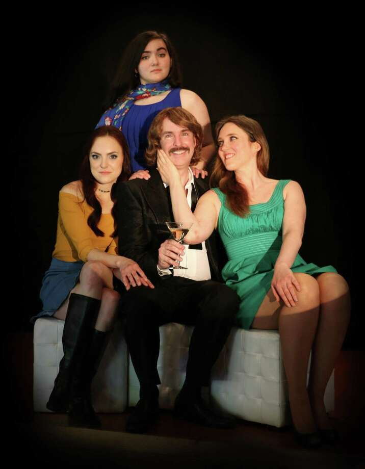 From left, Alexis Kurtz as April, Shailagh Maher as Marta, John Johmann as Bobby and Allison Waggener as Kathy. Photo: Cathi Bosco / Madison Lyric Stage / 2015