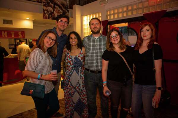 People attend The Suffers hometown album release show at The Heights Theater, Thursday, July 12, 2018.