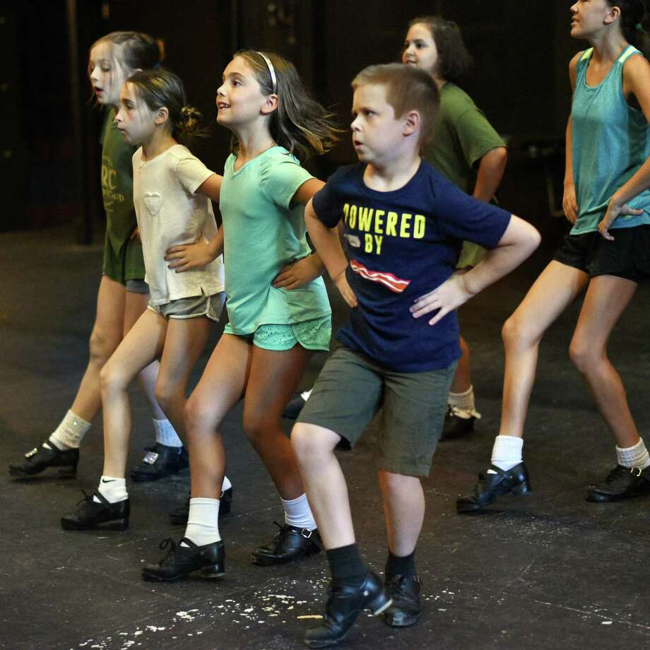 Eight-year-old Malachi Davoren, center, works with fellow Camp Rince Ceol students on their Irish dance skills at Union College Thursday July 12, 2018 in Schenectady, NY.  (John Carl D'Annibale/Times Union) Photo: John Carl D'Annibale / 20044276A