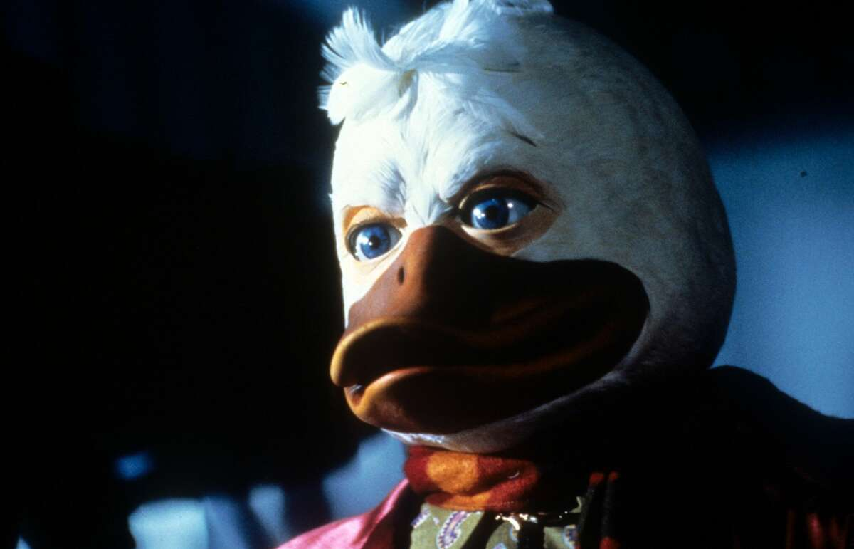 """Howard in a scene from the film """"Howard The Duck,"""" 1986."""