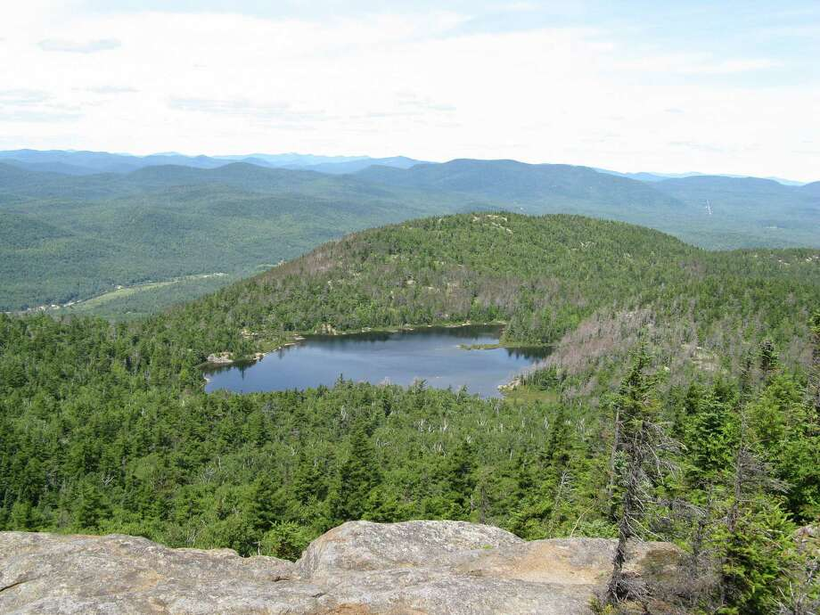 Crane Mountain Pond as seen from the mountain's summit. (Herb Terns / Times Union)
