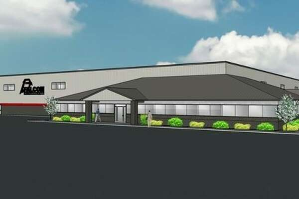 A rendering of the planned new $4.7 million headquarters of Falcon Road Maintenance Equipment LLC. The company is relocating its headquarters and production facilities from Midland to Bay County's Williams Township, a consolidation move company officials say positions itself to capitalize on a growth industry. (Image provided)