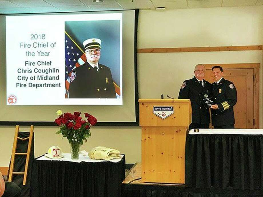 Midland Fire Department Chief Chris Coughlin was named 2018 Fire Chief of the Year by the Michigan Association of Fire Chiefs. (Photo provided)