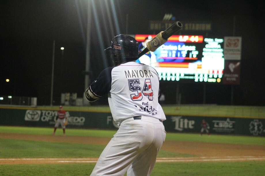 Playing third base, Daniel Mayora was 1-for-3 with a walk in his Tecolotes Dos Laredos debut Thursday night. Mayora was traded for All-Star pitcher Nestor Molina before the game. Photo: Courtesy Of The Tecolotes Dos Laredos