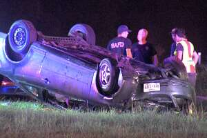 A woman hit a pole around 3:30 a.m. July 13, 2018, at Rigsby Avenue and Amity Road on the East Side, causing her vehicle to flip over.