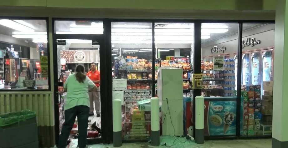 Burglars took an ATM cash box in a smash-and-grab at a convenience store at 14002 Memorial, on Friday, July 13, 2018. Photo: Metro Video