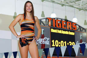 Edwardsville's Josie Bushell anchored the Tigers 200- and 400-freestyle relay teams, helping them to the IHSA State Swim Meet. She is the 2017 Telegraph Female Swimmer of the Year.