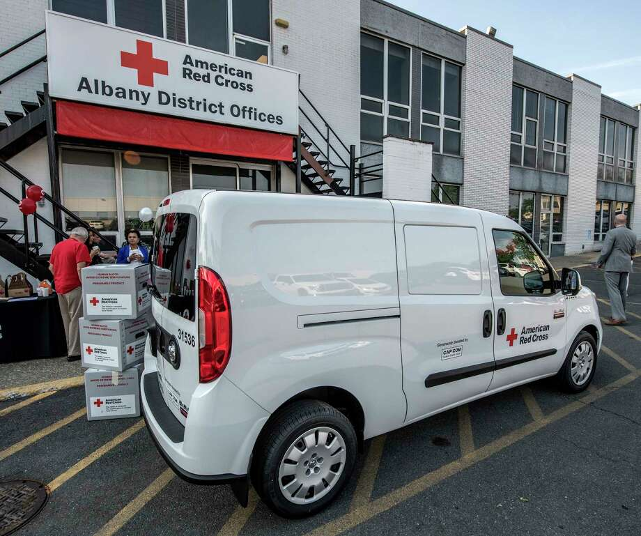 Red Cross Unveils New Transport Van Times Union