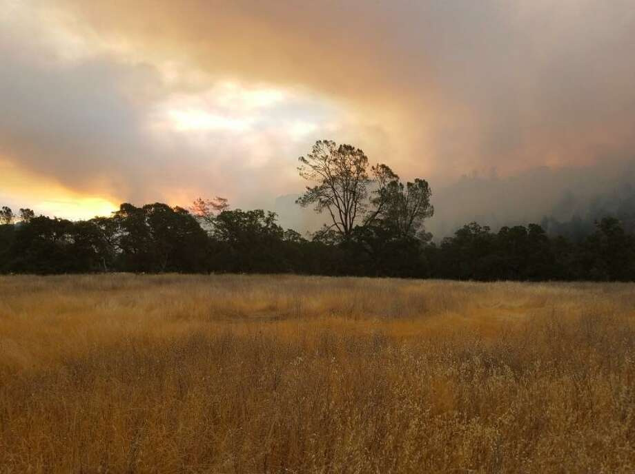 A fire broke out late Thursday night in Chico, burning about 150 acres, officials said. Photo: / Twitter