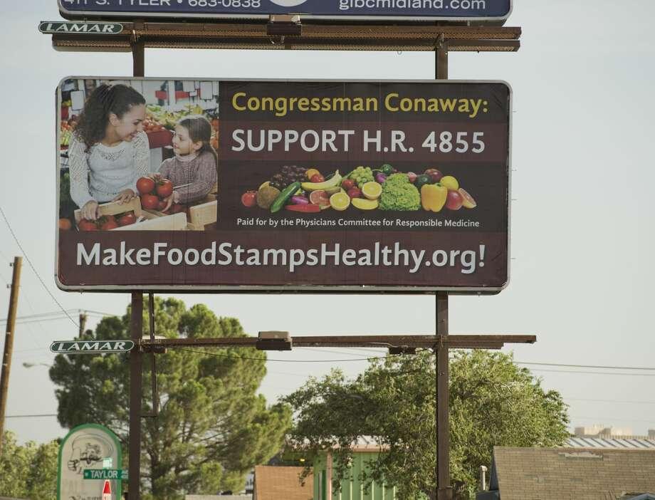 New billboard seen 07/13/18 on the 1500 block of Rankin Hwy encouraging Rep. Conaway to support a bill. Tim Fischer/Reporter-Telegram Photo: Tim Fischer/Midland Reporter-Telegram
