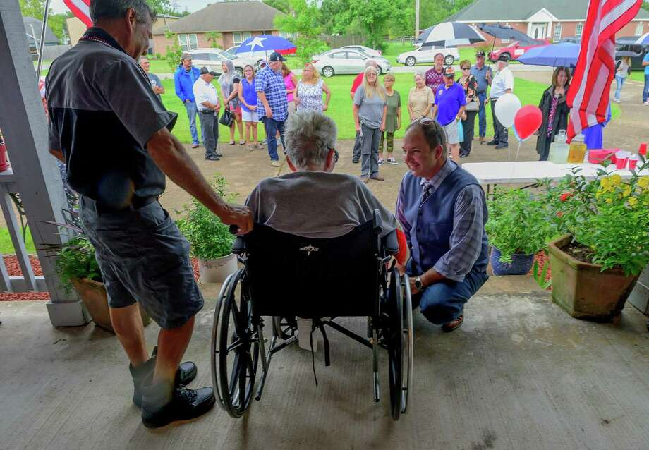 World War II veteran Bob Camp gets a surprise birthday greeting from area residents alerted through social media that he would mark his 94th birthday.