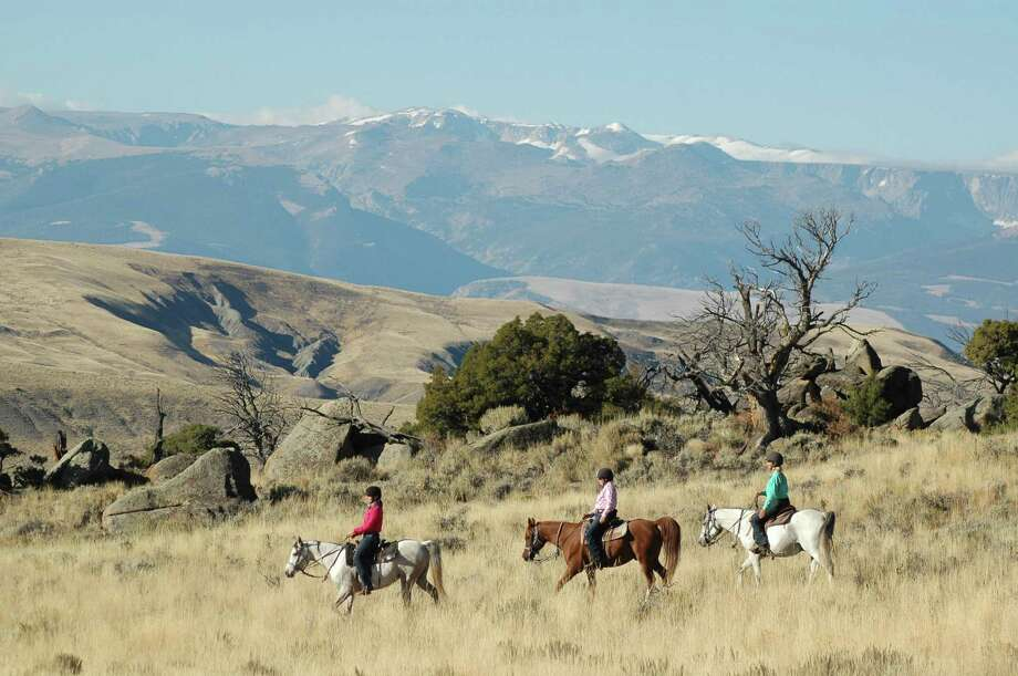 Bitterroot Ranch in Dubois, Wyoming, is a popular summer yoga and horseback riding retreat that started as a working ranch and now has a herd of 135 horses that roam its 1,300 acres. Photo: Bitterroot Ranch / Bitterroot Ranch