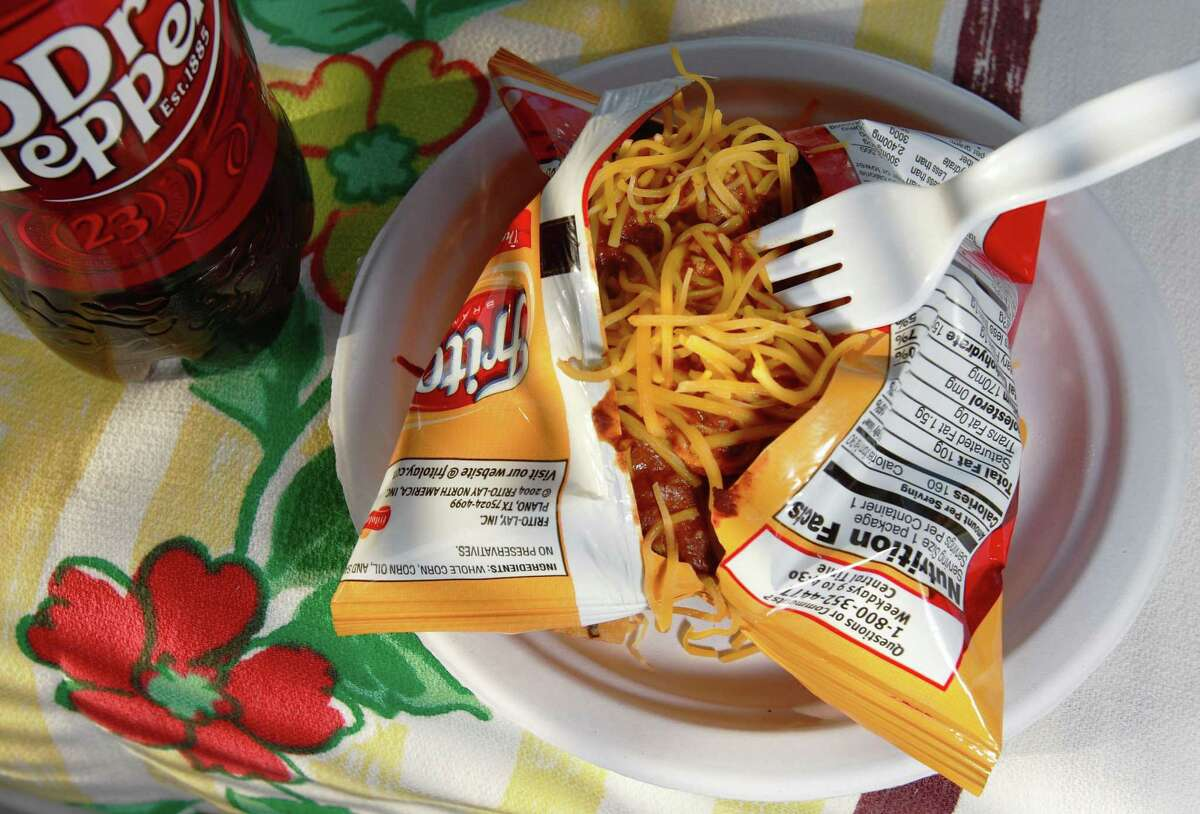 Frito pie is a classic Texas dish.