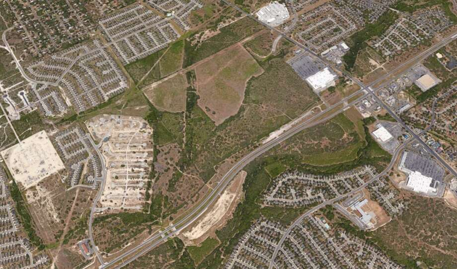 Round Rock-based Flix Entertainment purchased 5.9 acres last week on Loop 1604, three-quarters of a mile south of the Walmart Supercenter on Potranco Road, county property records show. Photo: Google Maps