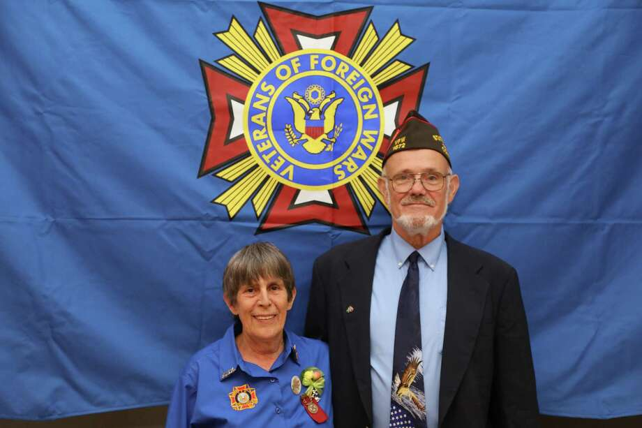 Jim Delancy was elected to be the the state commander for the Veterans of Foreign Wars, Department of Connecticut. He is pictured with Laurie Allen, President, Auxiliary to the Veterans of Foreign Wars for 2018-2019. Photo: Contributed Photo