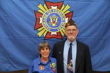 Jim Delancy was elected to be the the state commander for the Veterans of Foreign Wars, Department of Connecticut. He is pictured with Laurie Allen, President, Auxiliary to the Veterans of Foreign Wars for 2018-2019.