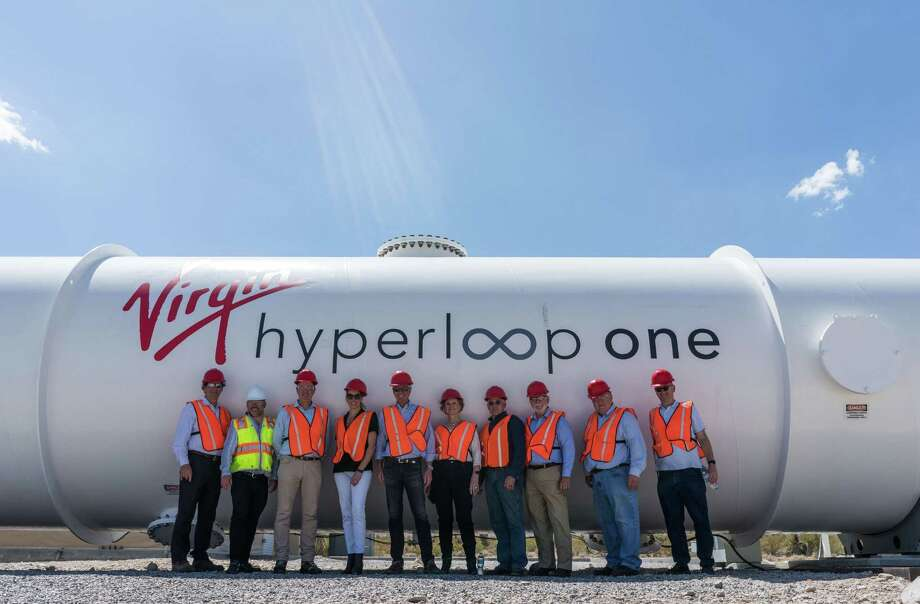 Officials with the North Texas Council of Governments visited the Nevada test site for Hyperloop One earlier this year. Photo: Hyperloop One