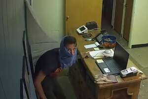 Leander police are looking for a suspected burglar who partially masked himself with blue underwear.