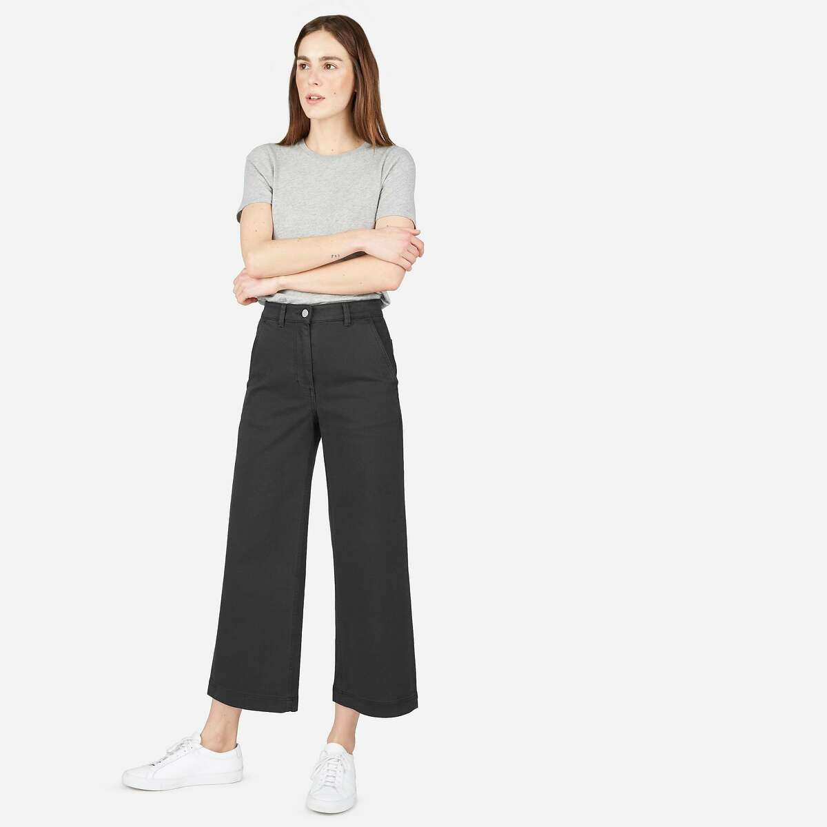 The wide leg crop pant from Everlane