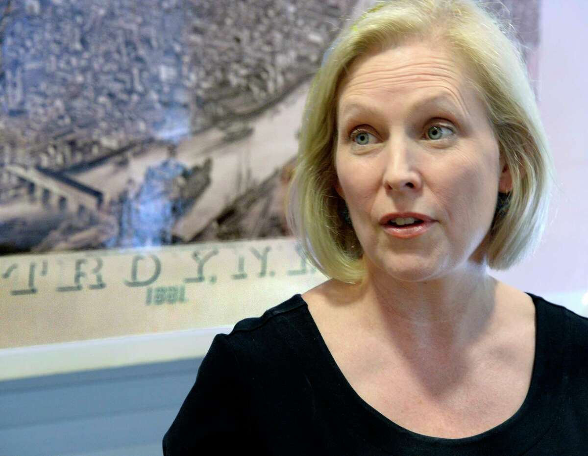 FILE -  U.S. Senator Kirsten Gillibrand holds a news conference on Friday July 13, 2018 in Troy, NY. (John Carl D'Annibale/Times Union)