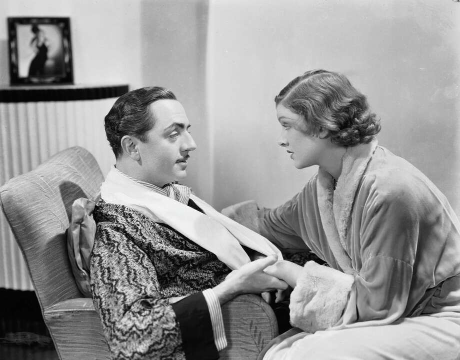 "William Powell and Myrna Loy play sleuthing couple Nick and Nora Charles in MGM's 1934 adaptation of ""The Thin Man."" Photo: MGM 1934 / Moviepix"
