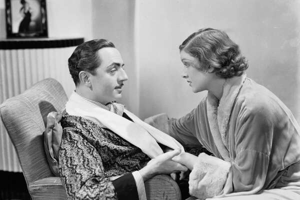 """William Powell and Myrna Loy play sleuthing couple Nick and Nora Charles in MGM's 1934 adaptation of """"The Thin Man."""""""