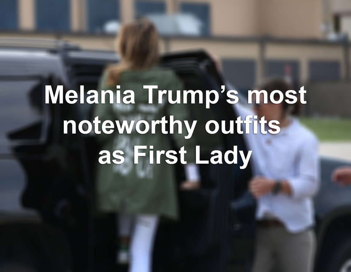 >> See Melania Trump's most noteworthy and headline-making outfit choices since becoming First Lady...