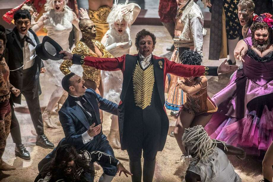 "Hugh Jackman, center, plays huckster and circus founder P.T. Barnum in the musical ""The Greatest Showman."" MUST CREDIT: Niko Tavernise, Twentieth Century FoX Photo: Niko Tavernise / Twentieth Century Fox / TM & © 2017 Twentieth Century Fox Film Corporation."