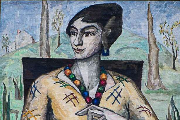 Flanders Nature Center will present a program on its founder, Natalie Van Vleck, on July 27. She is pictured above, as well as one of her paintings, Tic Tac Toe.