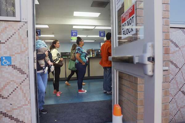2of2Line seen for already scheduled appointments at the State Department of Motor Vehicles on Thursday, July 5, 2018 in San Francisco, Calif.